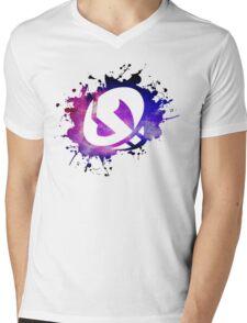 Team Skull Galaxy Mens V-Neck T-Shirt