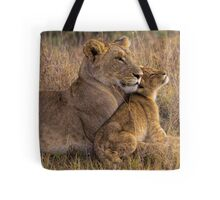 Lion Baby with Mother Tote Bag