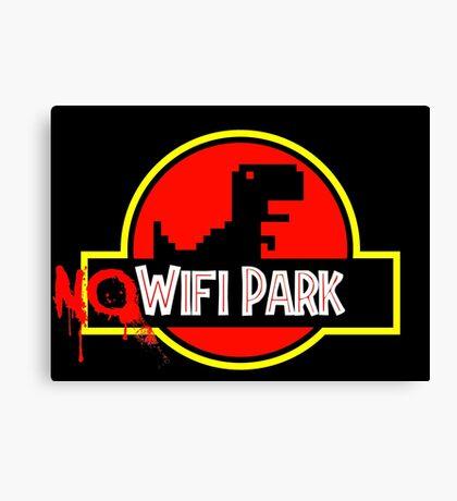 No Wifi Park Canvas Print
