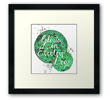 """Hand Painted Watercolor """"Gloria in Excelsis Deo"""" Framed Print"""