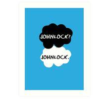 Johnlock - TFIOS Art Print