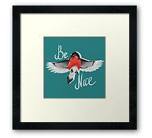 Bullfinch bird Framed Print