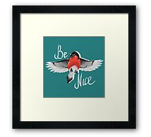 Bullfinch bird Framed Print