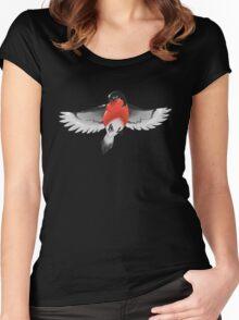 Bullfinch bird Women's Fitted Scoop T-Shirt