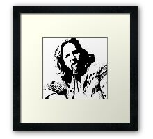 The Big Lebowski Dude Framed Print