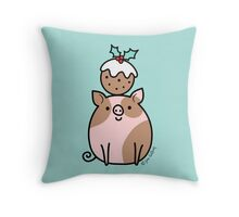 Pig 'n' Pud Throw Pillow
