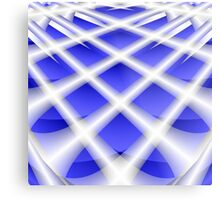 White And Blue Pattern Metal Print