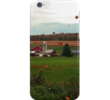 Swirling Leaves At The Farm iPhone Case/Skin