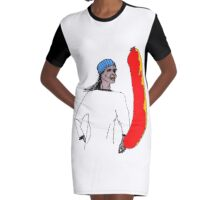 The Importance Of Sausage  Graphic T-Shirt Dress
