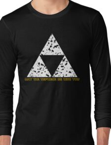 May The Triforce Be With You Long Sleeve T-Shirt