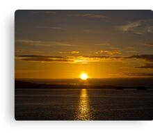 Inside Passage Sunset Canvas Print