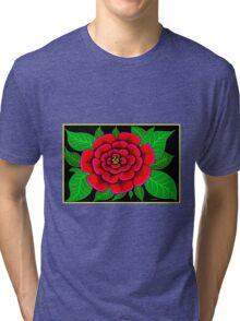 Trumpet Rose Tri-blend T-Shirt