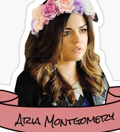 aria montgomery flower crown sticker Sticker