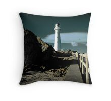 A Path to the Lighthouse Throw Pillow