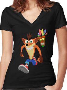 FunnyBONE - Crash 3 Women's Fitted V-Neck T-Shirt