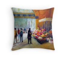 Under the clocks (Flinders street station - Melbourne) Throw Pillow