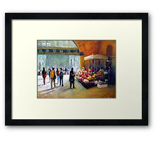 Under the clocks (Flinders street station - Melbourne) Framed Print