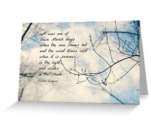 March Charles Dickens Greeting Card