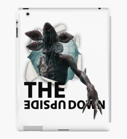 The Upside Down Demogorgon - Stranger Things- TV Show - Monster coming out !!! iPad Case/Skin