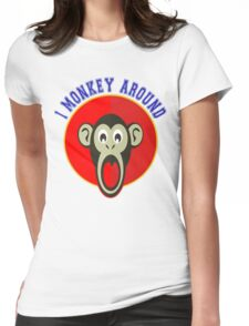 Cute Funny Brown Monkey Around Meme t-Shirts Womens Fitted T-Shirt