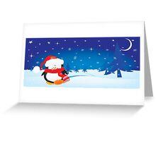 cute little xmas penguin Greeting Card