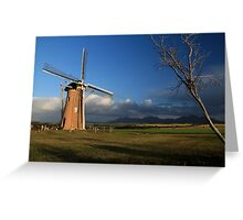 Windmill landscape Greeting Card