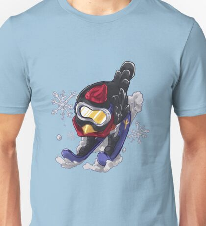 Skiing little robin Unisex T-Shirt