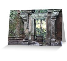 A window into the ruins Greeting Card