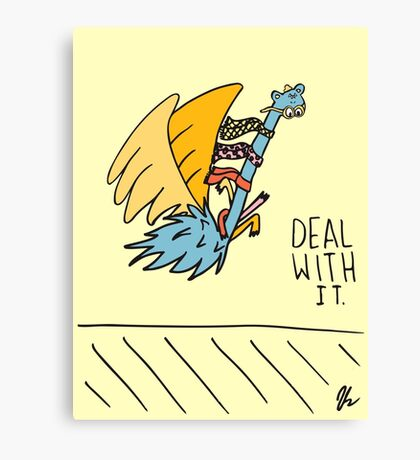Deal With It Illustration Canvas Print