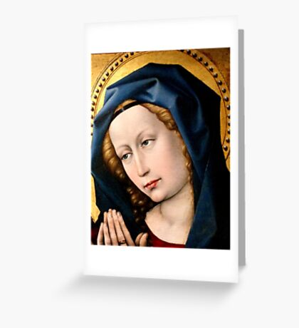 Praying Virgin Greeting Card