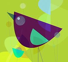 Abstract Purple Bird by lespetitsbutton