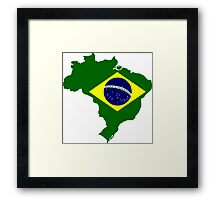 Map of Brazil Framed Print