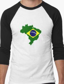 Map of Brazil Men's Baseball ¾ T-Shirt
