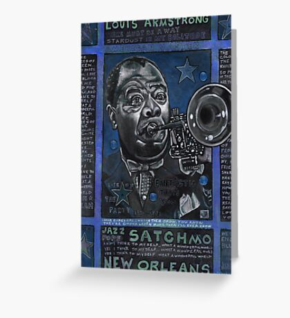 Louis Armstrong in Blue Greeting Card