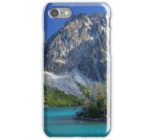 Dragontail Peak over Colchuck Lake, Washington iPhone Case/Skin
