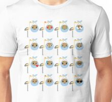 Stork with Baby Cookie Emoji Different Face Expression Unisex T-Shirt