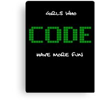 GIRLS WHO CODE Canvas Print