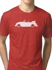 Lowered car for Classic VW Beetle Convertible enthusiasts Tri-blend T-Shirt