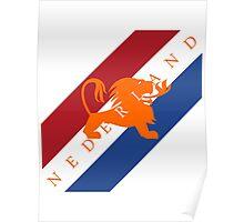 Netherlands - Celebrative 2014 World Cup T-shirt Poster