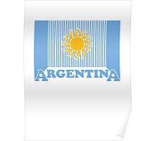 Argentina - Celebrative 2014 World Cup T-shirt Poster