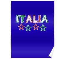 Italy - Celebrative 2014 World Cup T-shirt Poster