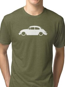 Lowered car for Classic 1973 Volkswagen Super Beetle enthusiasts Tri-blend T-Shirt