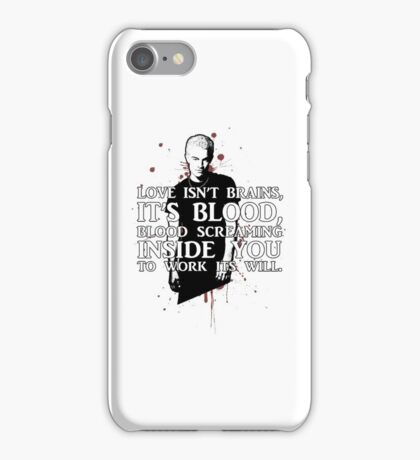 BLOOD; SPIKE (WITH TEXT) iPhone Case/Skin