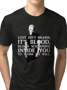BLOOD; SPIKE (WITH TEXT) Tri-blend T-Shirt