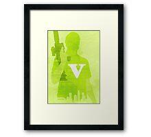 GTA V Minimalistic Design Framed Print