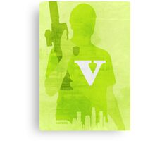 GTA V Minimalistic Design Canvas Print