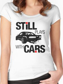 Still plays with cars (1) Women's Fitted Scoop T-Shirt