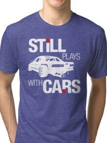 Still plays with cars (2) Tri-blend T-Shirt
