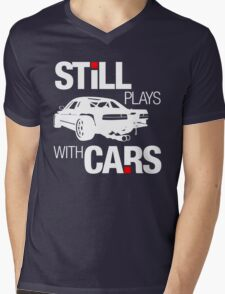 Still plays with cars (2) Mens V-Neck T-Shirt