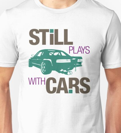 Still plays with cars (3) Unisex T-Shirt